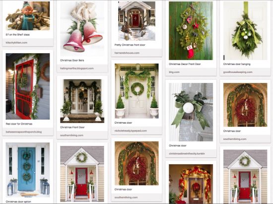 Christmas door ideas | Nest Vintage ModernNest Vintage Modern