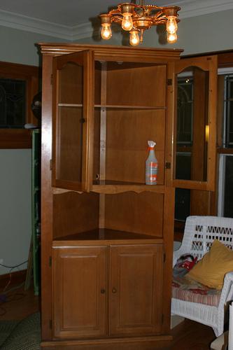 Fixer Upper Find Vintage Corner China Cabinet Nest