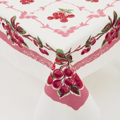 Retro cherries tablecloth