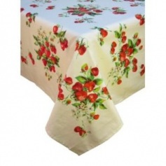 Strawberry Fields retro tablecloth