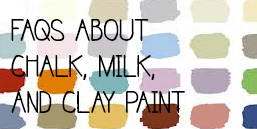 how to use chalk paint, milk paint, clay & mineral paint
